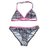 Kleinkinder Baby Mädchen Quaste Badekleidung Schwimmanzug Bikini Sets 2-15 Jahre (158/164, Schwarz und Weiß)