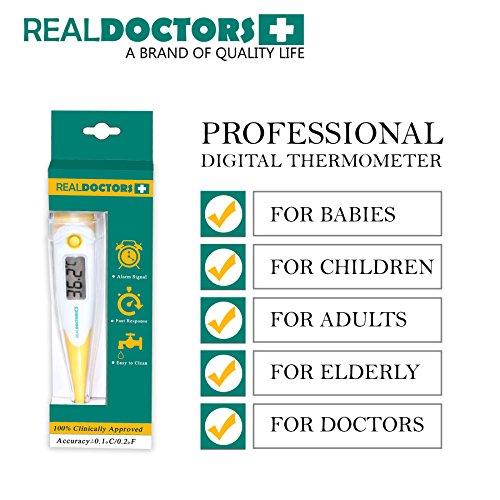 Termómetro Clínico Este Termómetro Oral, Termómetro Rectal y Termómetro Axilar es un Termómetro Médico Digital de Fiebre Para Adultos Bebés y Bebé Lectura de 10 Segundos Vida Saludable Celsius & Fahrenheit
