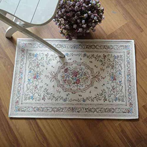 YUANMAKE Teppich Elegante Landhausstil Vintage Floral Zimmer Fußmatten Bereich Teppich Designer Fußmatte