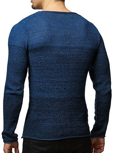 Pullover Herren Strickpullover Winter Strick Strickjacke Carisma CRSM Longsleeve Clubwear Langarm Shirt Sweatshirt Hemd Pulli Kosmo Japan Style Fit Look Navy