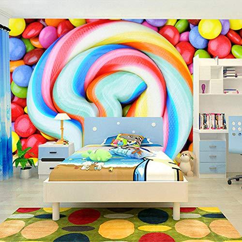 ede Größe Farbe Candy Lollipop Vliestapete Kinderzimmer Schlafzimmer Dekoration Malerei Wandbild Tapete Kinder 350x256cm ()