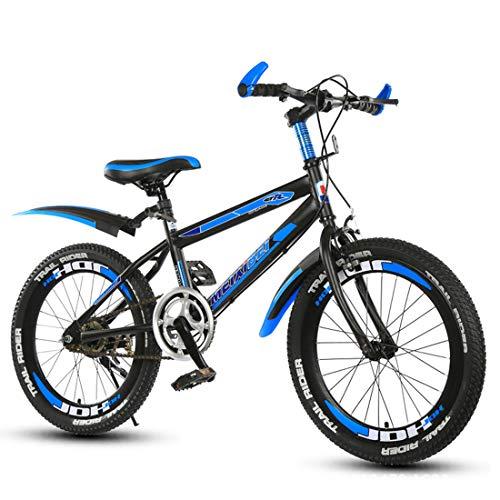 GRXXX Mountainbike Aluminiumrahmen Stoßdämpfung Fahrrad Falten Erwachsene Student Bike Geschenk 22 Zoll,Blue-22 inches -