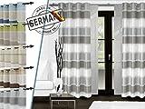 """Ösenschal """"Rialto"""" - Markenqualität Made in Germany von """"deko trends"""" – klassische Wohndekoration in elegantem Design - in 5 edlen Farbkombinationen, silber"""
