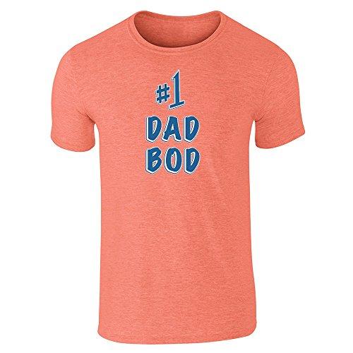Pop Threads  Herren T-Shirt Orange - Orange (Heather Orange)