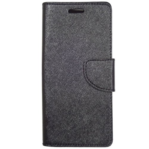 Zaoma Diary Wallet Type Flip Flap Case Cover for Panasonic P81 - Black