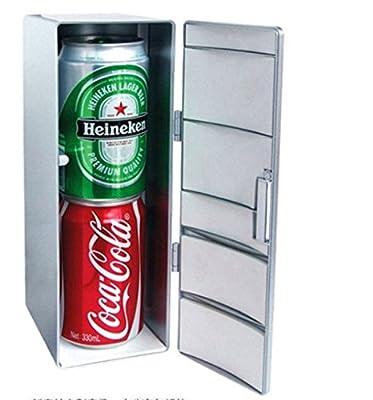 Yeah67886 Creative Mini Cold and Warm USB Fridge Drink Refrigerator