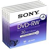 SONY DMW-30 DVD-RW (8cm) Lot de 5 30 minutes 1.4 Go