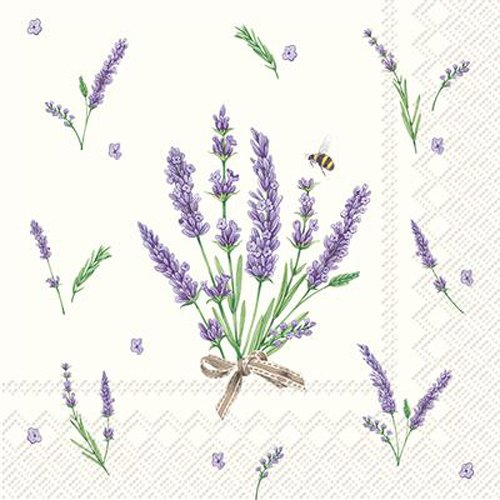 Celebrate The Home floral 3-lagig Papier Cocktail Servietten, 20-count, Bouquet von Lavendel