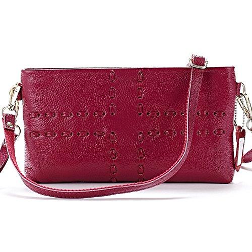 Mefly Die Neue Handtasche All-Match Einfache Diagonale Kleine Schicht In Baotou Purple Rose