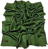 Best Shoulder Wraps - CJ Apparel Dark Green Fringe Solid Colour Design Review