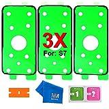 MMOBIEL 3 x Batterie Rückseite Back Rear Cover passgenau zugeschnittener Klebe Sticker Glue Adhesive Tape für Samsung Galaxy S7 G930 Series All Carriers inkl. Reinigungstuch Rasierklinge und Pads