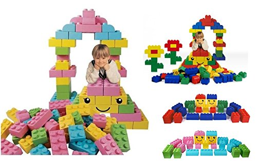 42-Piece-Soft-Brick-Construction-Set-Large-Soft-Lego-Style-Pieces-Available-in-2-Different-Colours-by-Playlearn