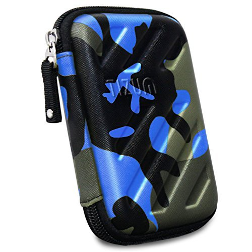 TIZUM External Hard Drive Case for 2.5-Inch Hard Drive, GPS -Premium Edition (Camouflage Blue)