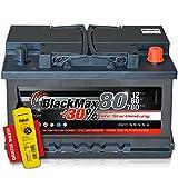 BlackMax+30% - 12 V / 80 Ah - 780 A/EN Autobatterie KFZ PKW Batterie inkl. Polfett