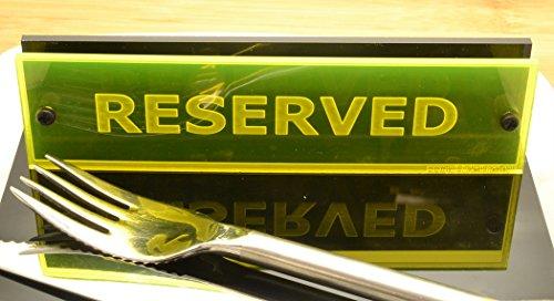customised-riservato-tabella-sign-per-caffe-bar-e-ristoranti-150-mm-x-40-mm-giallo-fluorescente