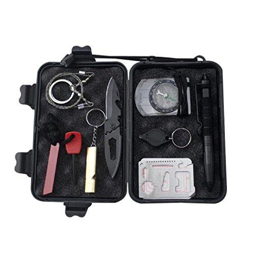 Preisvergleich Produktbild 9 in 1 Survival Kit Multifunktionswerkzeug First Aid Kit Box Set für Outdoor Sports Camping Adventure Jagd Reisen fishing-sos selbst helfen