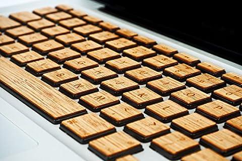 WoodWe Genuine Wood Laptop Keyboard Sticker / Skin for Macbook 12