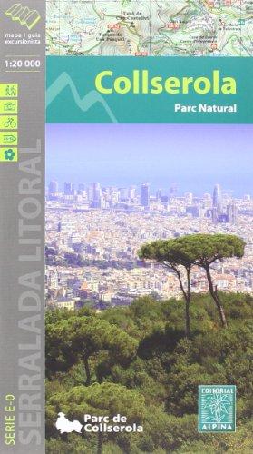 Serra de Collserola, mapa excursionista. Escala 1:20.000. Català. Alpina editorial.
