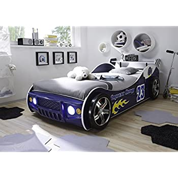 demeyere 203893 ausziehbares autobett grand prix 90 x 190 200 cm 101 5 x 40 5 x 209 cm blau. Black Bedroom Furniture Sets. Home Design Ideas
