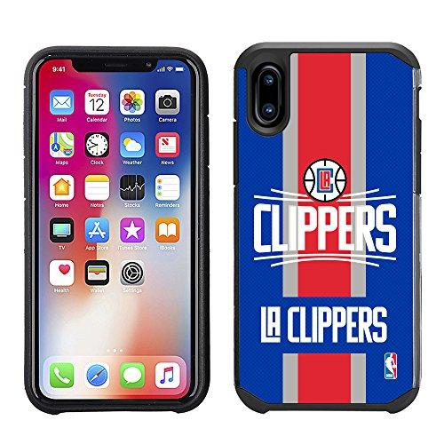 Hoot² Team Color Texture Schutzhülle für iPhone X (gestreiftes Design), NBA Lizenzprodukt, NBA Los Angeles Clippers - Nba-team Iphone