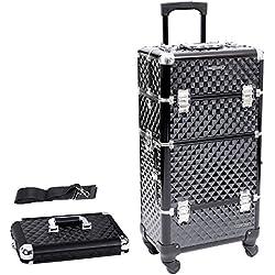 Songmics® Trolley make up Kosmetikkoffer Nail Art Koffer Box Schmuckständer Nagellack Gegenstände JHZ04B