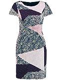 TAIFUN Kleid Langarm Kurz Etuikleid aus Baumwoll-Stretch Tinte 38