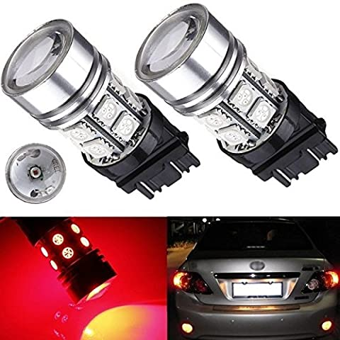 mark8shop T25 3157 CREE Q5 + 12 LED 5050 SMD Auto Tail Signal Lampe Birne Rot
