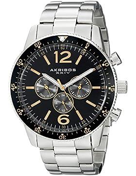Akribos XXIV Herren-Armbanduhr Analog Quarz AK768SSB