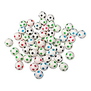 Schramm Onlinehandel S/O 50er Pack Flummis Fußball Design 27mm Flummis Springball Hüpfball Mitgebsel Tombola Kindergeburtstag