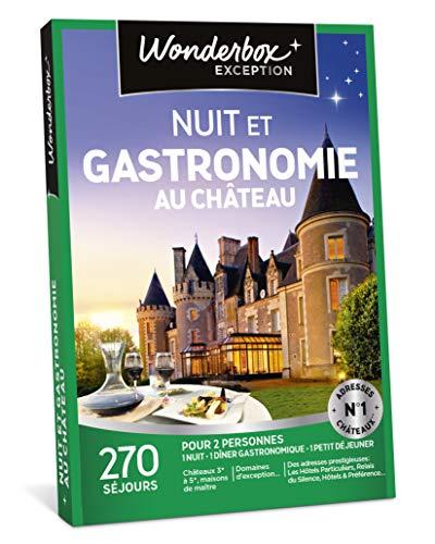 Wonderbox - Coffret cadeau de noel - NUIT ET GASTRONOMIE AU CHÂTEAU - 270 séjours:...