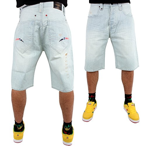 phat-farm-logo-officiel-homme-delavage-neige-baggy-short-en-jean-38-w