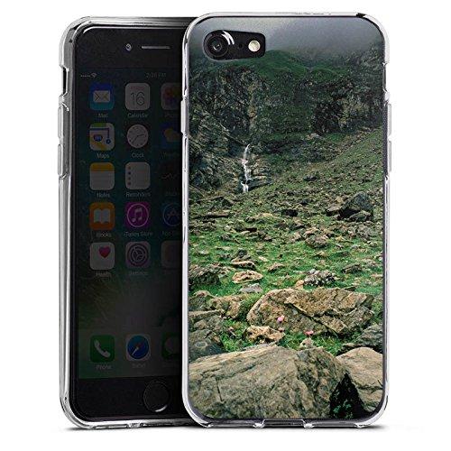 Apple iPhone X Silikon Hülle Case Schutzhülle Wasserfall Gebirge Felsen Silikon Case transparent