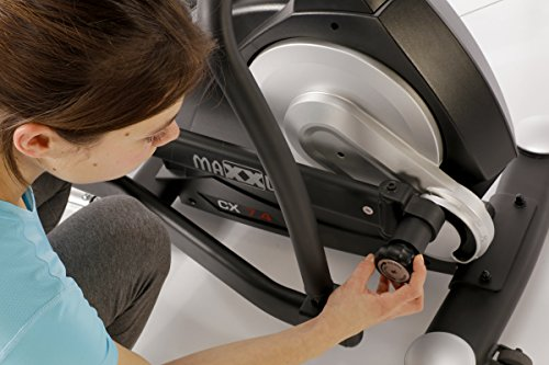 MAXXUS® CROSSTRAINER CX 7.4, Ellipsentrainer mit 5-fach Schrittlängenverstellung! Flache, elliptische Bewegung wie beim Laufen. Elektr. gesteuertes Magnetbremssystem, Trainingsprogramme, HRC-Programm, Schienensystem für sanften Lauf. Auf unterschiedliche Körpergrößen einstellbare Schrittlänge. - 3