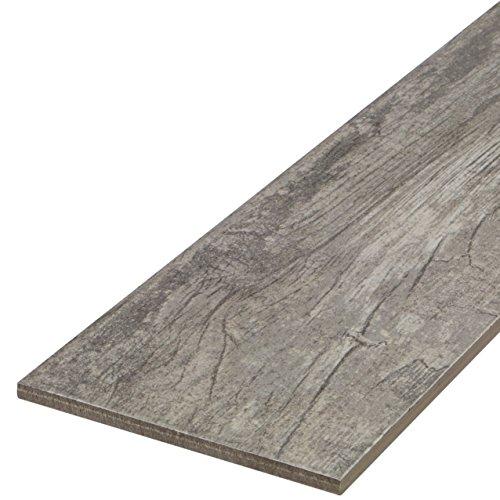 'Timber Mountain Timber' Bodenfliese 15x60,8 cm, Feinsteinzeug Fliese mit Holzoptik und Holzstruktur (Musterfliese)