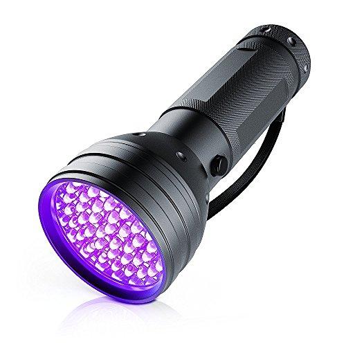 LED UV Schwarzlicht Taschenlampe   UV-Schwarzlicht   Ultraviolett Leuchte mit 51x LEDs   Energieeffizienzklasse: A+   hohe Beleuchtungsfläche / leuchtintensiv