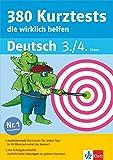 Klett 380 Kurztests, die wirklich helfen: Deutsch 3./4. Klasse (Die kleinen Lerndrachen)