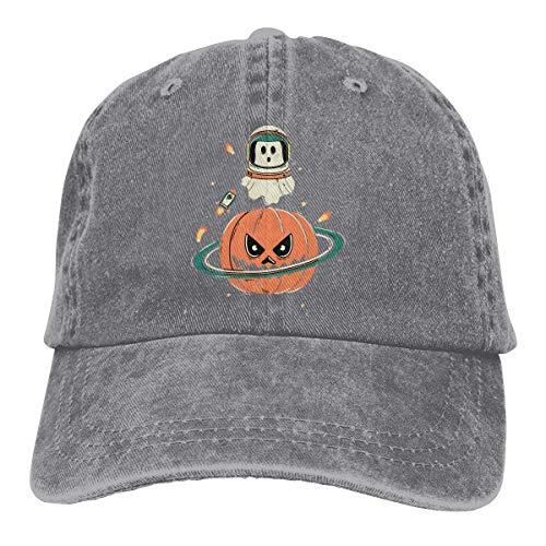 (Wdskbg Astronaut Ghost Planet Pumpkin Unisex Adjustable Vintage Denim Baseball Kappen New6)