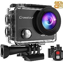 Crosstour 4K Action Cam WIFI 16MP Subacquea Ultra HD Sport Action Camera 170° Grandangolare due 1050mAh Batterie Custodia Impermeabile e Kit di Accessori