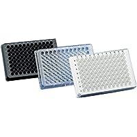 Microplaca de 96 pocillos, BRANDplates, pureGrade PS Estándar negra, fondo'F' 350 µl 100 pl. embalada 5 placas/bolsa, sin tapa, sin esterilizar