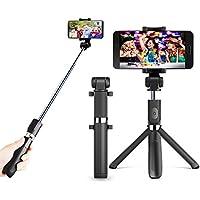 Zeadio extensible multifunción 3 en 1 mini bolsillo selfie stick, integrado plegable trípode con Bluetooth remoto selfie stick y 360 Degree rotación soporte para smartphone