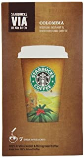 Starbucks VIA Colombia Roast Coffee 7 Sachets (Pack of 8, Total 56 Sachets) (B0061NNVAG) | Amazon price tracker / tracking, Amazon price history charts, Amazon price watches, Amazon price drop alerts