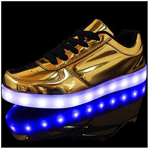 [Present:kleines Handtuch]JUNGLEST® Unisex Frauen Männer USB Lade LED leuchten Glow Schuhe Luminous American Star Flagge Freizeitschuhe c19