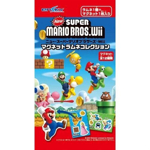 New Super Mario Brothers WII Magnets Candy Collection (1 Random Piece) (Candy Magnet)