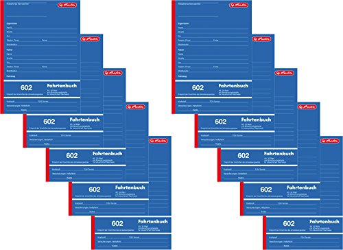 Herlitz 840637 Fahrtenbuch 602, A5 hoch, 32 Blatt (10 Stück)