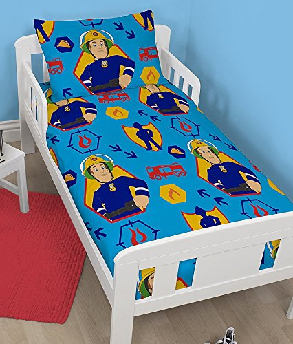 Image of Fireman Sam Action Junior Cot Duvet Cover Bed Set by Charachter World