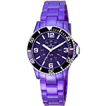 Radiant RA232212 - Reloj con correa de acero para mujer, color morado / gris
