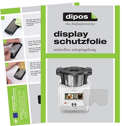 dipos I 2X Schutzfolie matt kompatibel mit SilverCrest Monsieur Cuisine Connect Folie Displayschutzfolie