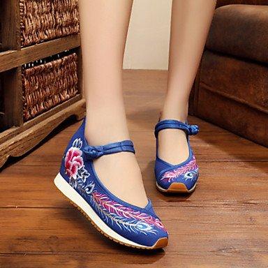 Da donna-Oxford-Tempo libero Casual Sportivo-Comoda Innovativo Scarpe ricamati-Piatto-Di corda-Nero Beige Rosso Blu Blue