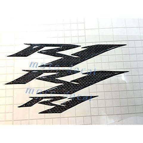 R1Carbon firber Elevador 3d emblema adhesivo para YZF-R1Tank carenado