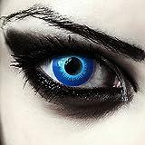 Ghiaccio blu colorato Elfi lenti a contatto per carnevale Halloween Costume, 2pezzi, design Lenses, Model: Blue Elfe